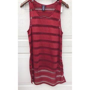 Maroon red swim suit cover ♥️